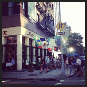 Taping of HBO Girls at Felix in Soho