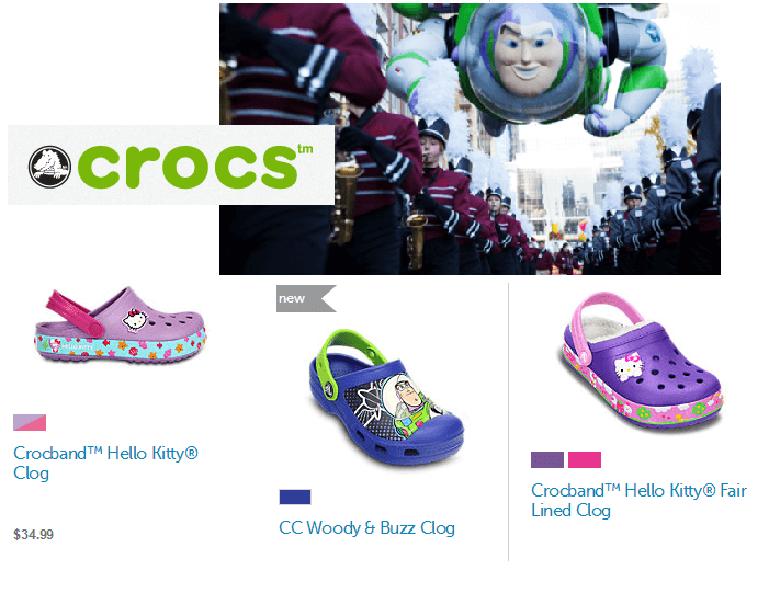 Buzz Lightyear and Hello Kitty at Crocs