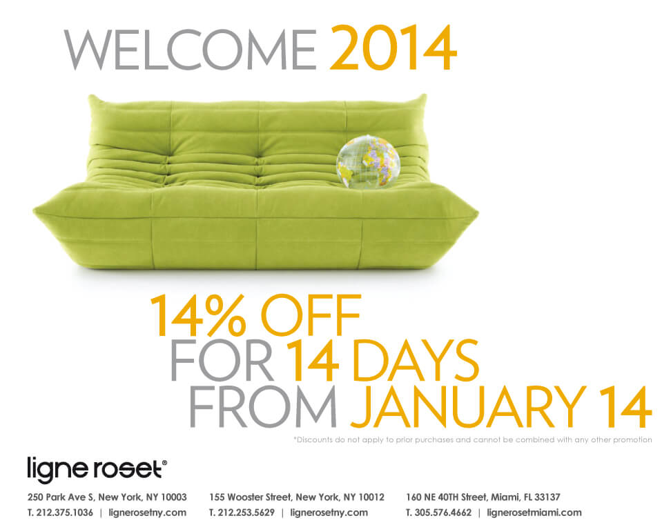 Ligne Roset Soho Save 14 For 14 Days January 14 28 2014